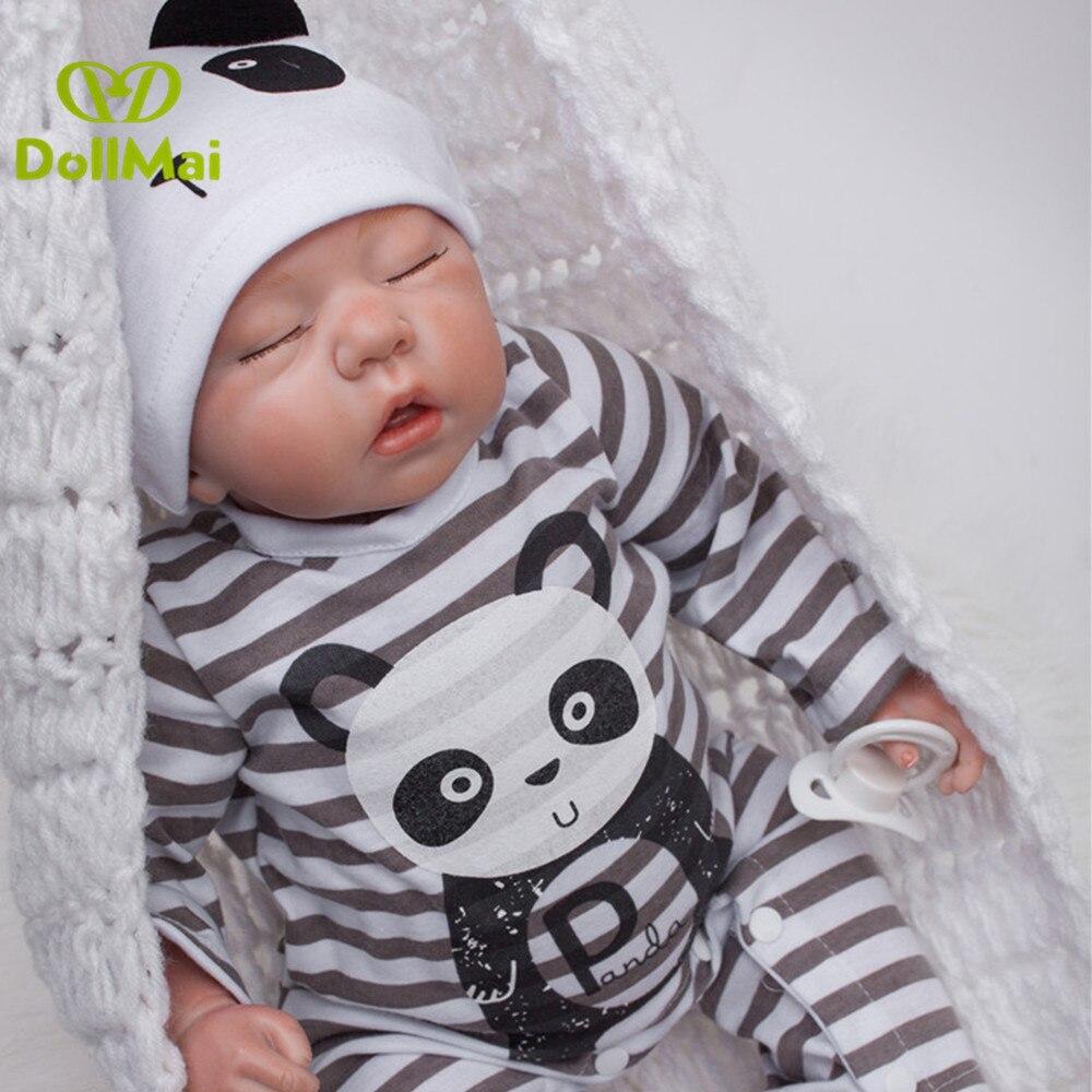 50 cm Silicone reborn bébé poupées jouet réaliste garçon dormir poupées jouets cadeau lol bebe reborn menino bonecas
