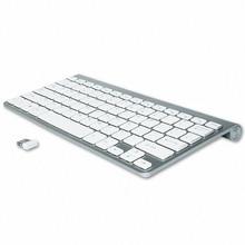 سليم USB لوحة مفاتيح لاسلكية صغيرة لوحة مفاتيح الكمبيوتر اللاسلكية المدمجة لوحة المفاتيح الخارجية لأجهزة الكمبيوتر المحمول اللوحي ويندوز سطح المكتب