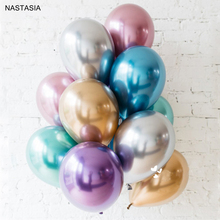 NASTASIA 10pcs/lot Metal latex balloon 10 inch multicolor  birthday decorations adult party supplies