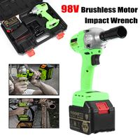 New 98V Cordless High Torque Lithium Ion Brushless motor Electric Impact Wrench 3 Speed Torque 520 3200r/min Nm