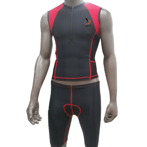 ФОТО Red Professional Ironman Triathlon Suits Lycra Compression Men Wetsuit Cycling Jerseys