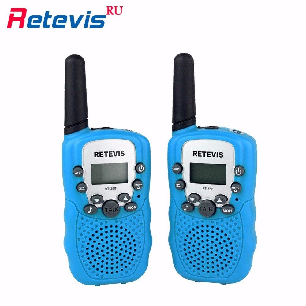 2pcs Mini Two Way Radio Retevis RT388 Children Walkie Talkie UHF PMR446 LCD Display Flashlight VOX