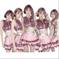 New Jazz Dance Korean Dance Costumes Songs Sequins Costumes Adult Women DS Nightclub Slim Sexy Stage Set
