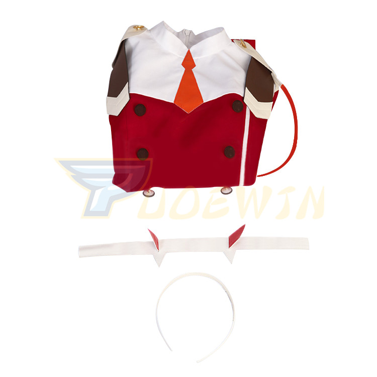 Anime DARLING in the FRANXX ZERO TWO 002 Outfit Dress Cosplay Costume