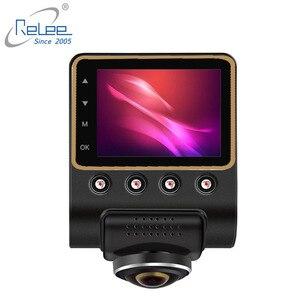 Image 2 - Relee Auto DVR Panoramisch uitzicht Draadloze Camera 360 graden voor auto Dash cam 1080 P Nachtzicht Video opname WIFI camera
