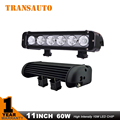 TRANSAUTO 11 POLEGADA 60 W LED LIGHT BAR PARA OFF ROAD BARRA de LUZ FLOOD MANCHA COMBO FEIXE LED de CONDUÇÃO de LUZ LED BARRA de LUZ DRL LEVOU TIRA