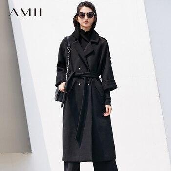 De Moda Mujeres Sólido 2018 Amii Trwfqw4b Invierno Abrigo Causal Lana HnwPOqg88