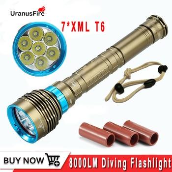 Uranusfire Diving Flashlight LED 7 XML T6 8000LM Underwater LED Torch Lamp Light Waterproof Tactical Flashlight lantern sitemap 28 xml