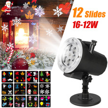 Mini Slides Pattern Waterproof Projector LED Home Entertainment Light Holiday Christmas Outdoor Snowflakes Landscape Lights