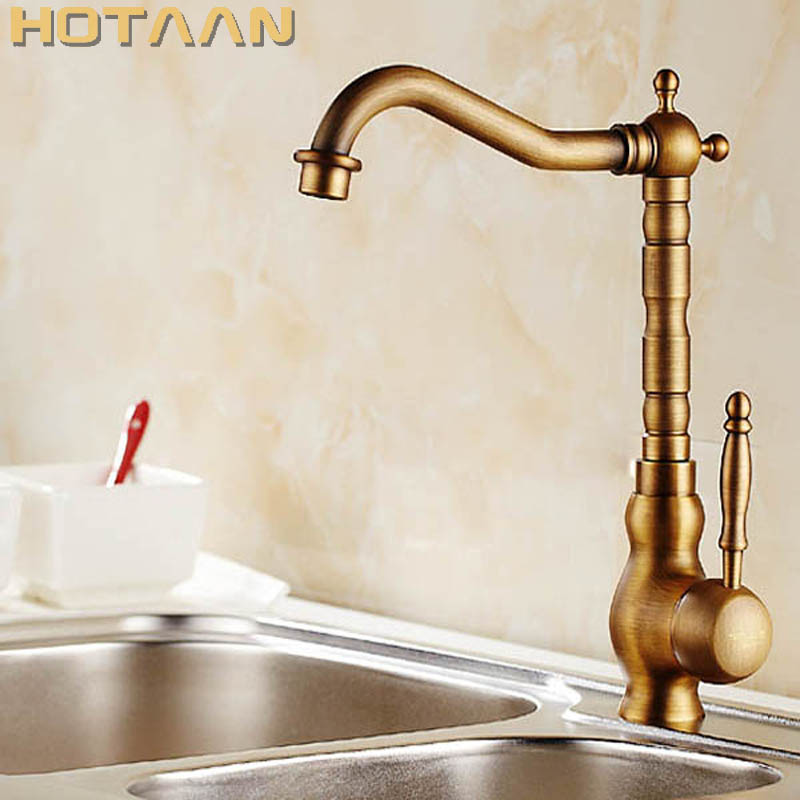Free shipping Kitchen Faucet Antique Brass Swivel Bathroom Basin Sink Mixer Tap Crane,torneiraYT-6031 free shipping kitchen faucet torneira wall mounted antique brass swivel bathroom basin sink mixer tap crane yt 6035
