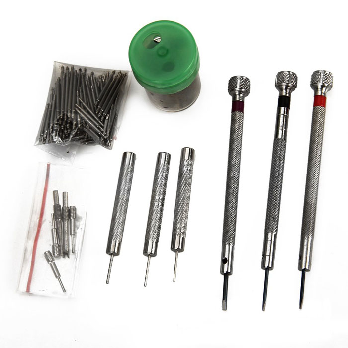 2017 New 36PCS Watch Opener Remover Watch Repair Set With 108PCS Watch Strap Spring Pin top grade bezel remover opener for watch repair