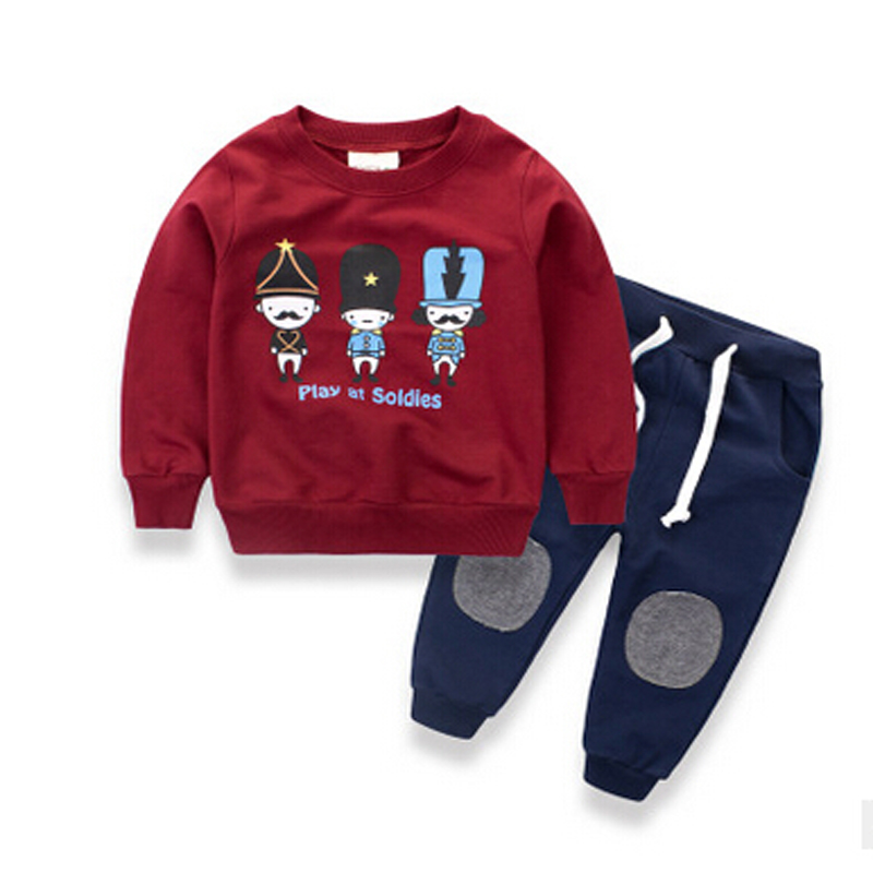 Children clothing sets girls boys sports suits printed spring/autumn nova kids clothes for boys fashion new arrival sports suit цены онлайн