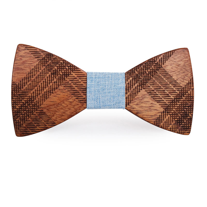 Men Boy Fashion Handmade Wooden Bow Tie Wedding Party Clubbing Unique Wears Gift