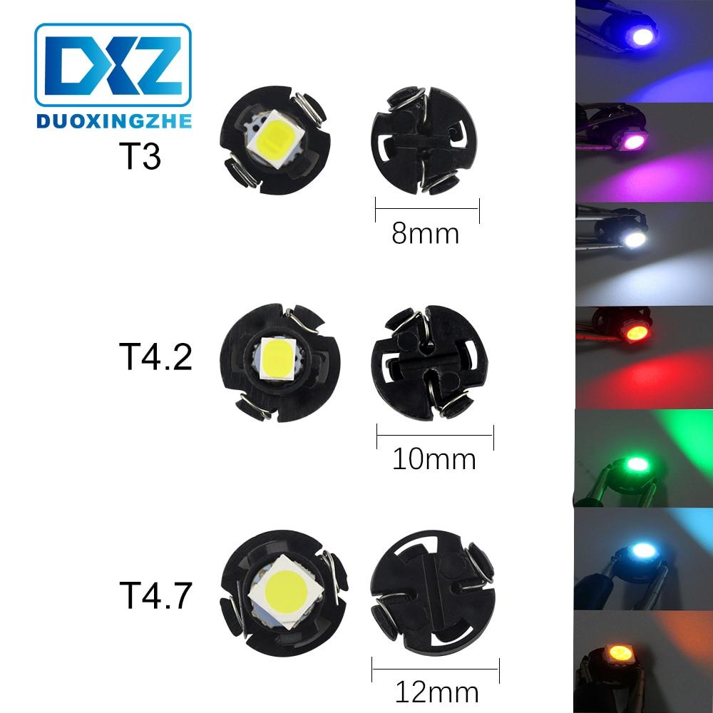 DXZ 1X T3 T4.2 T4.7 Car LED Instrument Light 1 SMD 12V Wedge Dashboard Warning Indicator Lamp Instrument Cluster Light 5050 1210