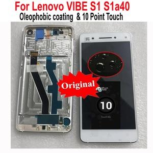 Image 1 - Оригинальная новая протестированная стеклянная панель ЖК дисплей 10 дюймов сенсорный экран дигитайзер в сборе датчик + рамка для Lenovo VIBE S1 S1a40 S1c50