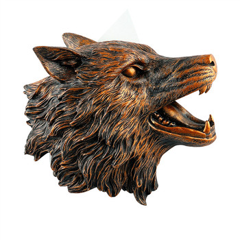 Creative Wolf Head Wall Hanging Simulated Animal Wall Decoration