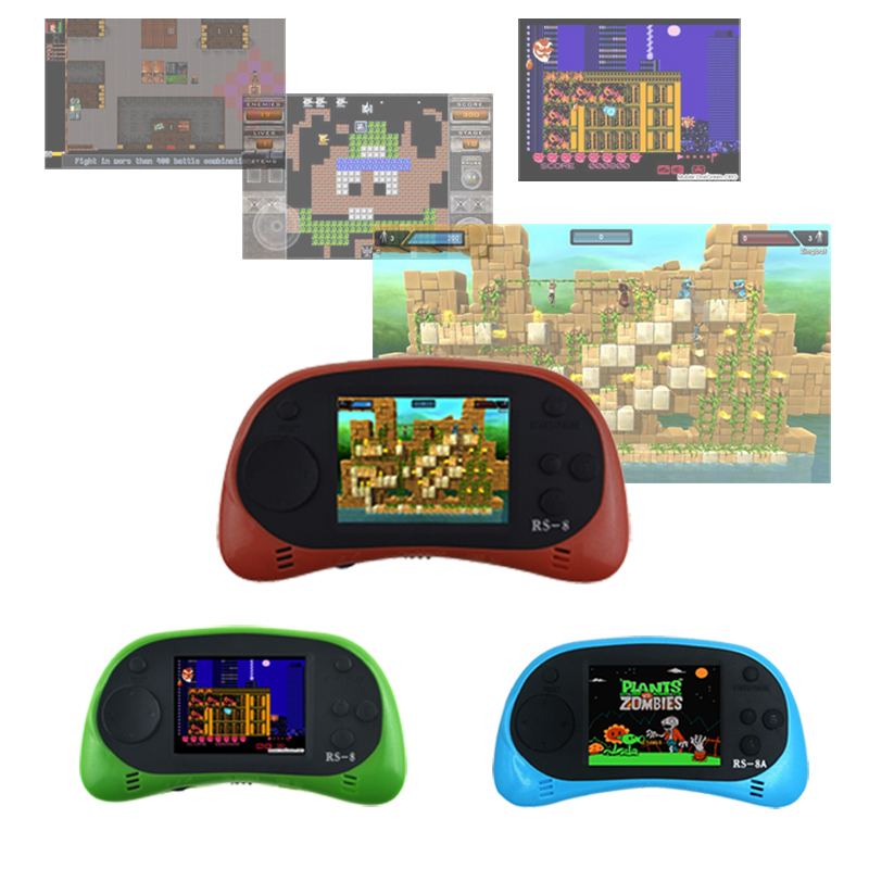 RS 8 8A Handheld font b Game b font Player 8 Bit 2 5 inch Portable