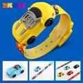 Детские часы  фирменные модные креативные цифровые спортивные детские часы  детские наручные часы с мультяшным автомобилем для мальчиков и...