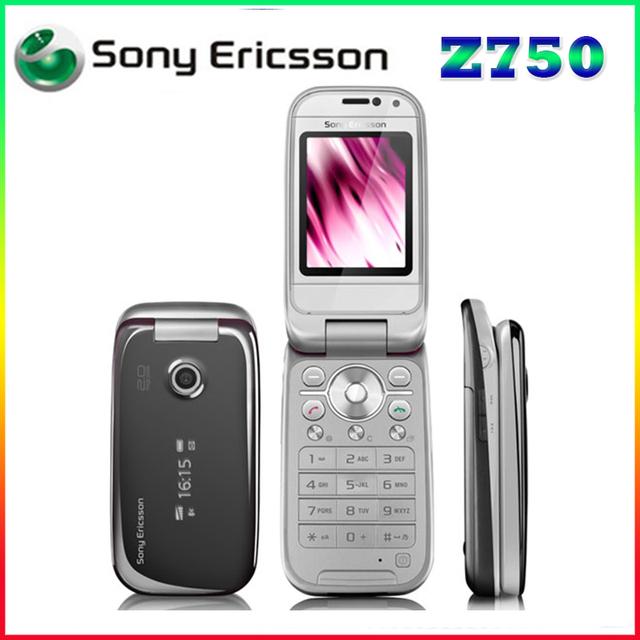 Z750 original desbloqueado sony ericsson z750 3g bluetooth apoyo ruso y árabe teclado del teléfono móvil un año de garantía