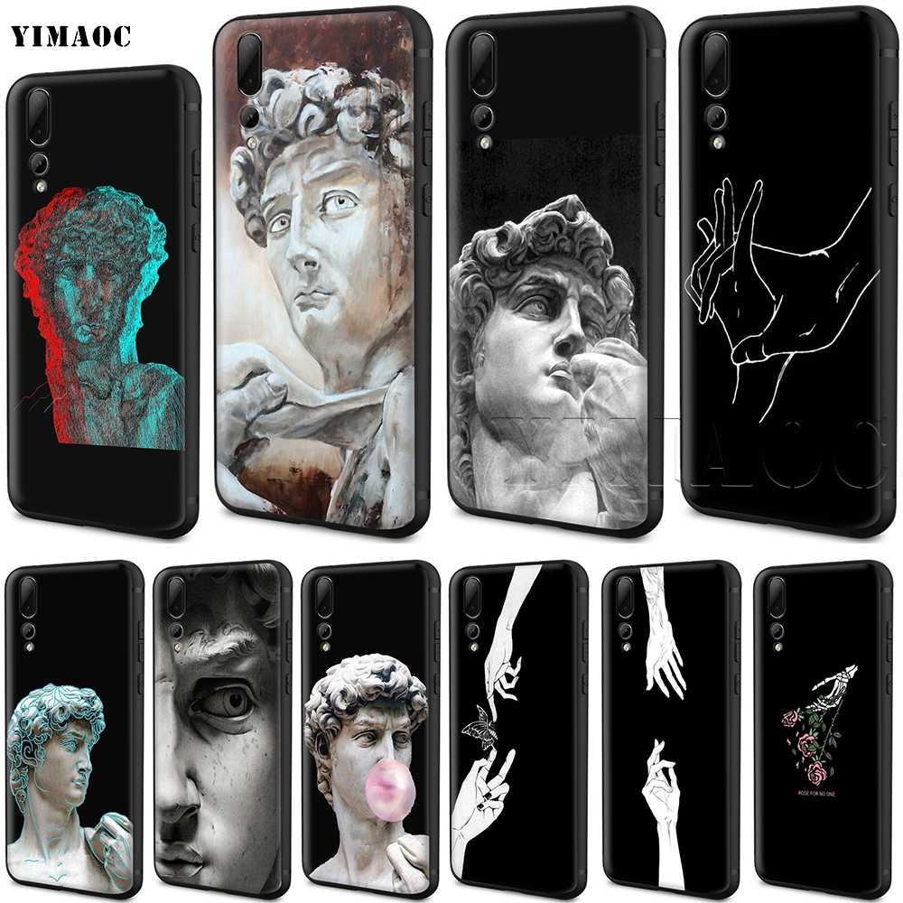 YIMAOC David Statue Silicone Case for Huawei Honor 6a 7a 7c 7x 8 9 10 Lite Pro Y6 2018 2017 Prime