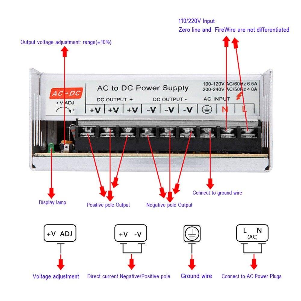 DC 48 V 400 W Commutateur Mode D'alimentation à Tension Constante Led Pilote Transformateur AC 110 V/220 V