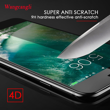 wangcangli 9H 4D Curved Edge Tempered Glass on the For iPhone 6 6s Plus 7 8 X Full Cover Protective Premium HD Screen Protector