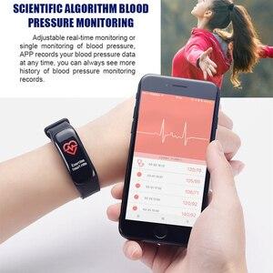 Image 5 - Pulsera inteligente Imosi C1Plus, pulsera inteligente deportiva con control del ritmo cardíaco y de la presión sanguínea y pantalla a Color para Android e IOS