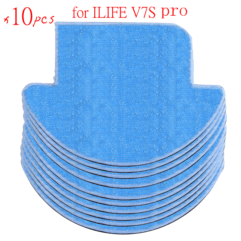 10 pcs ilife v7s pro robot vacuum cleaner Cloths Replacement for chuwi ilife v7s pro Mop 5 pcs lot chuwi ilife robot vacuum cleaner mop cloths for ilife v7s replacement mop cleaning robot vacuum cleaner mop