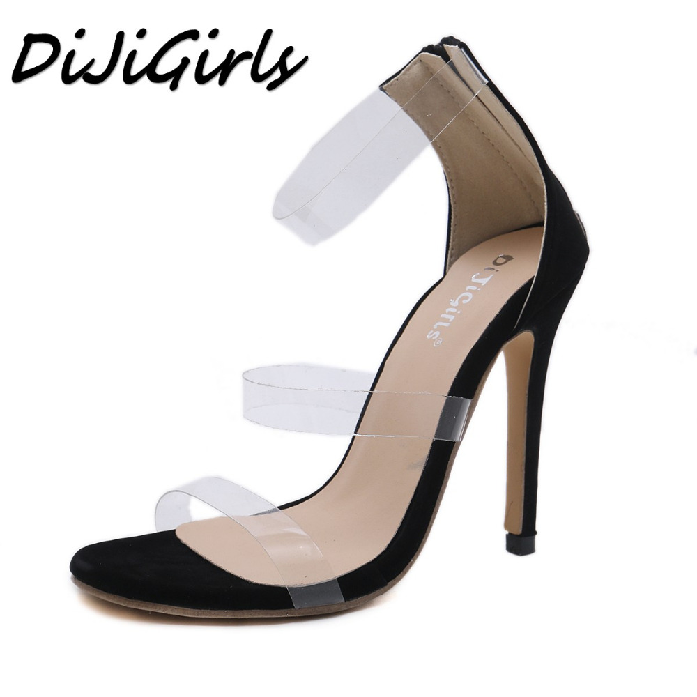DiJiGirls Summer 2019 Women High Heels Sexy Black Sandals ...