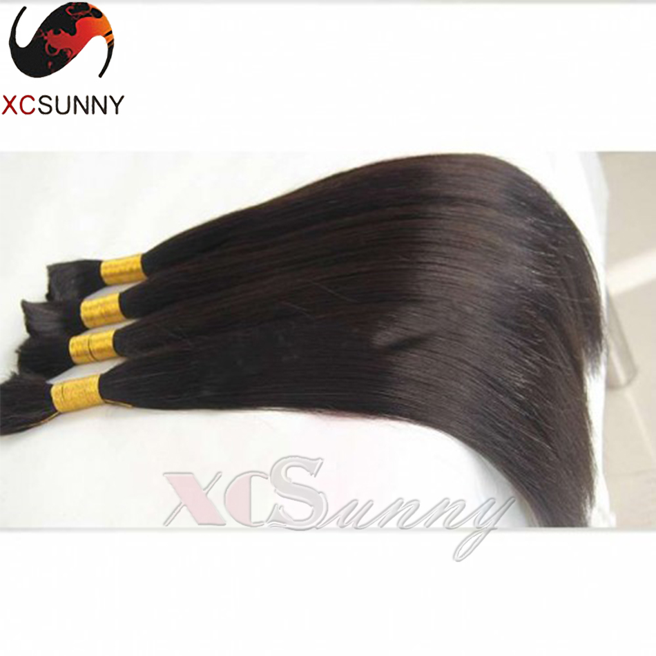 Unprocessed 7A Brazilian Virgin Hair Silky Straight Human Braiding Hair Bulk 2pcs/lot 200g Brazilian Braiding Hair Bulk No Weft