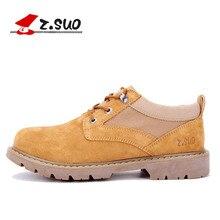 Z. suo Мужские Ботинки замшевые туфли, чтобы помочь низкая мужской моды дышащая Мужские ботинки оснастки основная Zapatos respirables Los Hombres Zs159