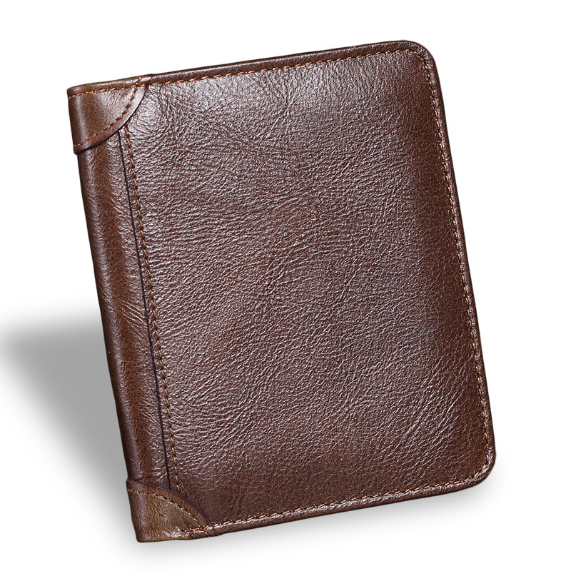 Men Short Wallet Genuine Leather Vintage Purses High Quality Money Bag Credit Card holders New Bill Wallet large capacity card id holders genuine leather package cluch bag new men s leather wallet fashion leisure leather wallet
