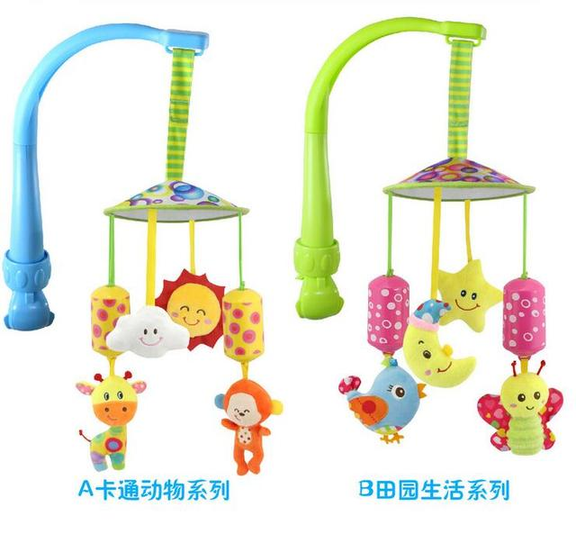 Newborn multifunction  Baby Bed Lathe Hanging Rattle Bell Animal Child Stroller baby safety seat Car Clip Hanging Toys