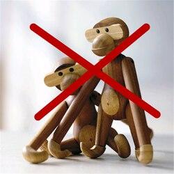 20 см большие натуральные деревянные висячие обезьянки кукольные игрушки Фигурки тикового дерева статуи животных модели домашнего декора и...