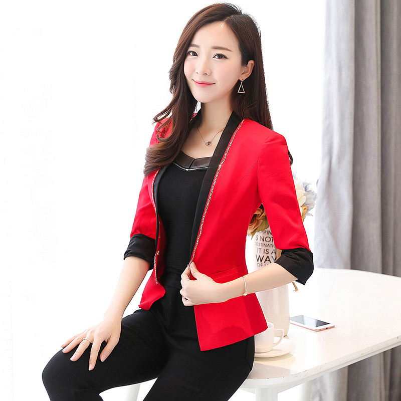 Suits & Sets Back To Search Resultswomen's Clothing Elegant Female Summer Thin Suits Plus Size 3xl 4xl 4xl Women Office Blazer Blue Orange Slim Fit Breathable Blazer For Work Ma088 Latest Fashion