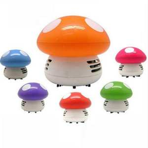 Cute Mini Mushroom Corner Desk Table Dust Vacuum Cleaner