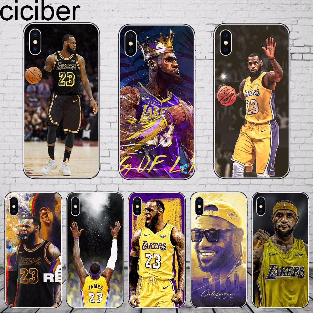 6521370d21618e ciciber Basketball LeBron James 23 Phone Cases Soft Silicone TPU Cover For  iphone 8 6 S 7 plus X XR XS MAX 5S SE Coque Funda