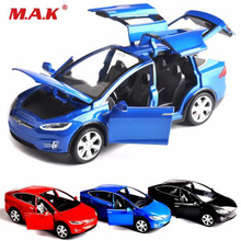 1:32 scale car model X90 Tesla alloy 1/32 diecast W sound&light pull back toy cars kids toys collection