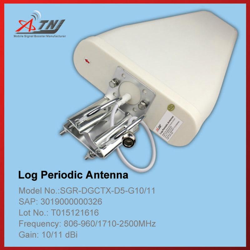 Nouvelle Arrivée!! Top Qualité + High Gain 10dbi, ATNJ 800-2500 mhz Extérieure Antenne Log-périodique pour 2G 3G 4G Signal Booster