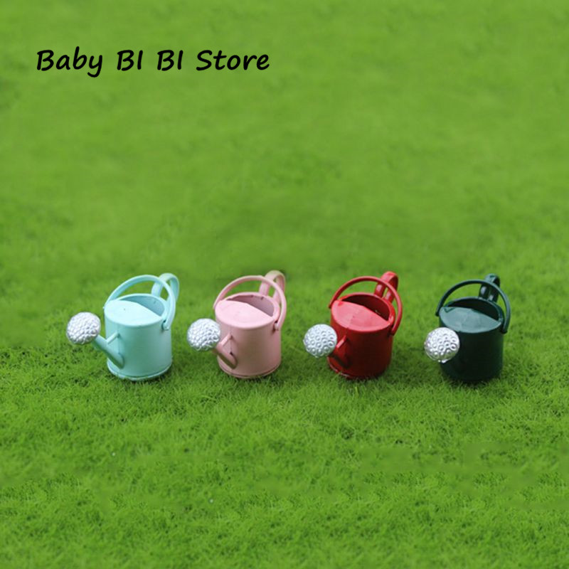 Mini Watering Can Pot For 1/6 1/12 Miniature Doll House Accessories Model Simulation Tools Toy Decoration