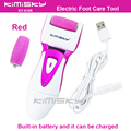 Red USB smooth strong electric pedicure tool /  rechargeable waterproof Foot Care Tool +2pcs For scholls funcdion roller heads