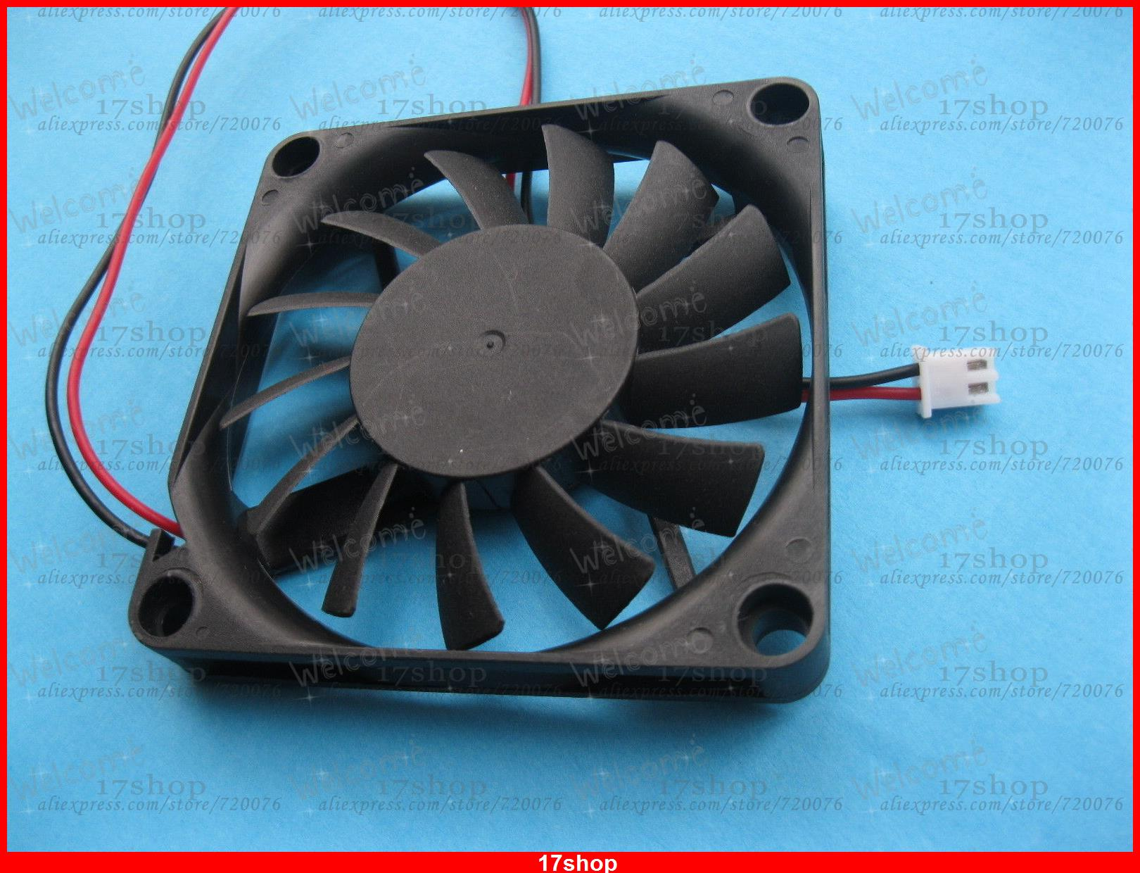 6 pcs Brushless DC Cooling Fan 5V 7010S 13 Blades 70x70x10mm 3 pin
