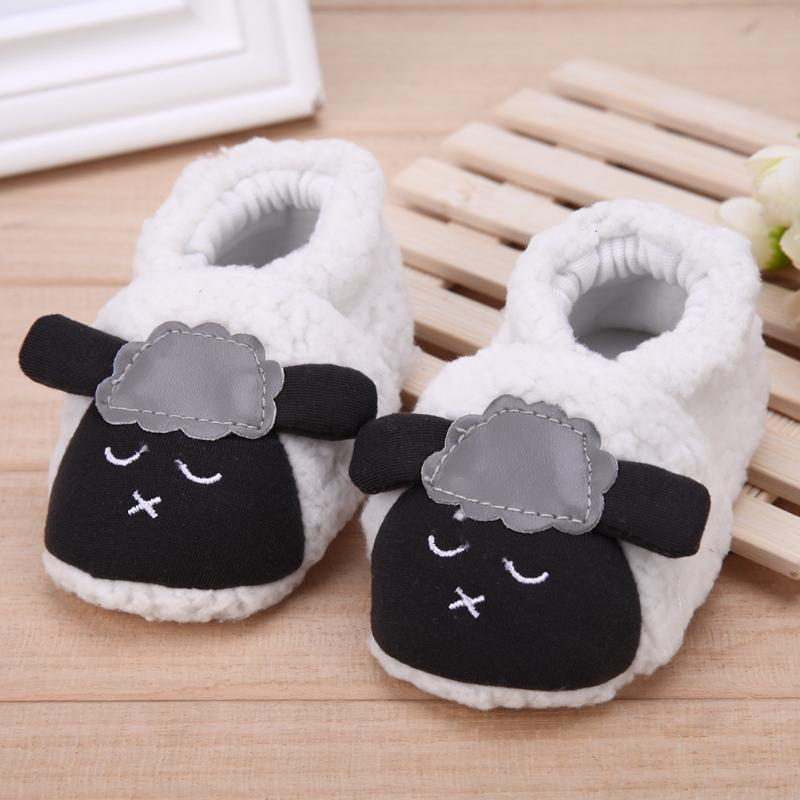 Children Baby Kids Shoes Autumn Warm Cartoon Sheep First Walker Coral Shoes Pre Walk  Anti-Slip Crib Sole Coral Shoes