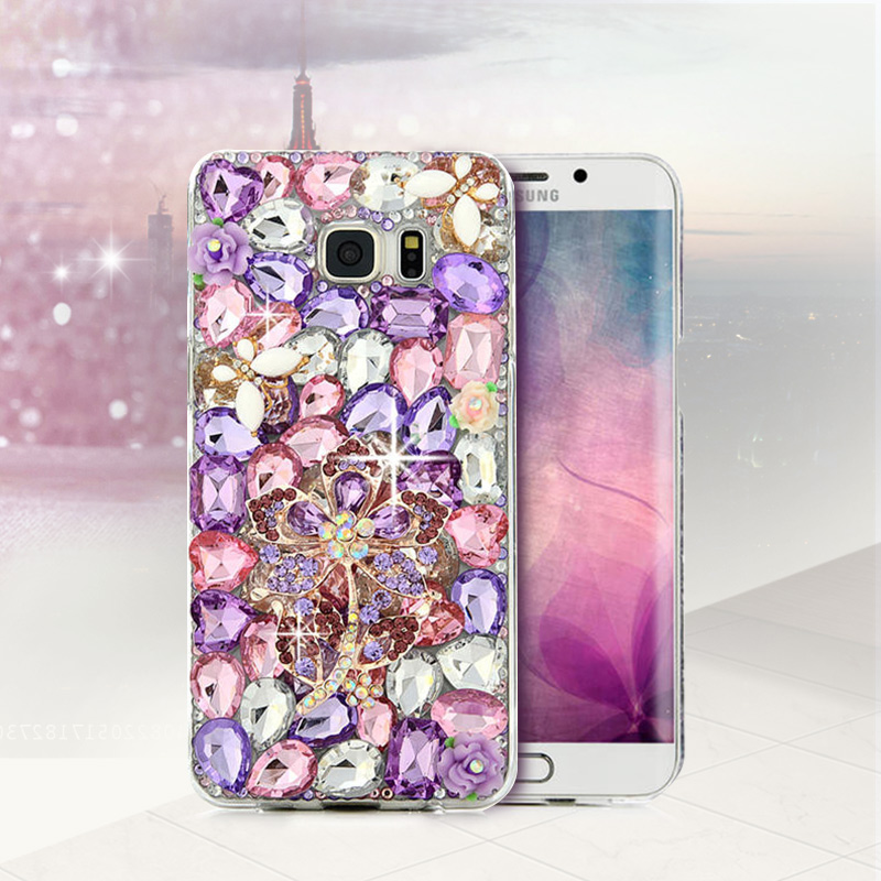 Bling Crystal Diamond Phone Case Rhinestone Cover For iPhone 5 5S SE 6 6S Plus For