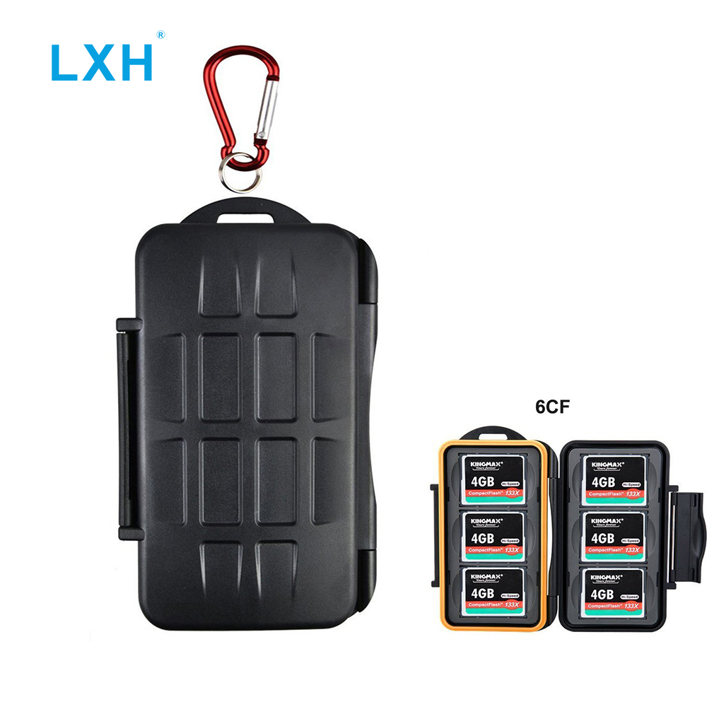 LXH 6Slots Portable Holder Durable Waterproof Anti-shock Storage CF Compact Flash Memory Card Case 6 Protector Cover For 6CF