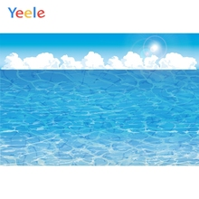 Yeele Seascape Wallpaper Photocall Cloud Blue Sky Photography Backdrop Personalized Photographic Backgrounds For Photo Studio