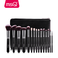 New Arrival MSQ 15pcs Makeup Brush Rose Gold Make Up Brushes High Quality Make Up Brush