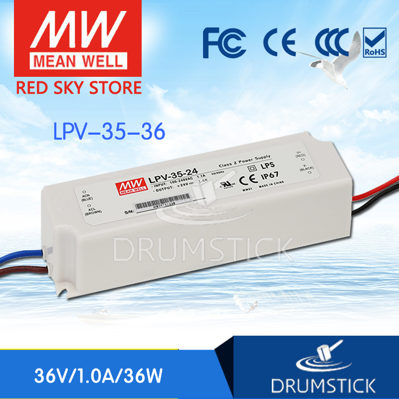 (Only 11.11)Selling Hot MEAN WELL LPV-35-36 (5Pcs) 36V 1A meanwell LPV-35 36V 36W Single Output LED Switching Power Supply(Only 11.11)Selling Hot MEAN WELL LPV-35-36 (5Pcs) 36V 1A meanwell LPV-35 36V 36W Single Output LED Switching Power Supply