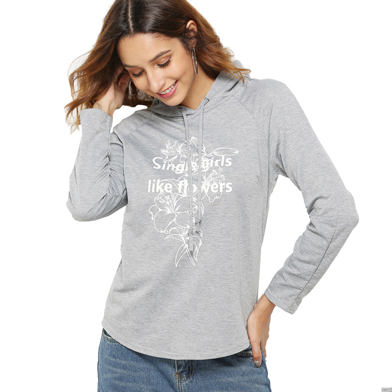 New 2019 Harajuku Hooded Hoodies Sweatshirt Fashion Long Sleeved Letter Printing Pullover women's Top