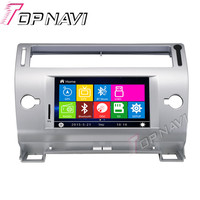 Topnavi Silver 7 Car DVD GPS For Citroen C4 Car Radio Multimedia Audio Stereo In Dash Wince System